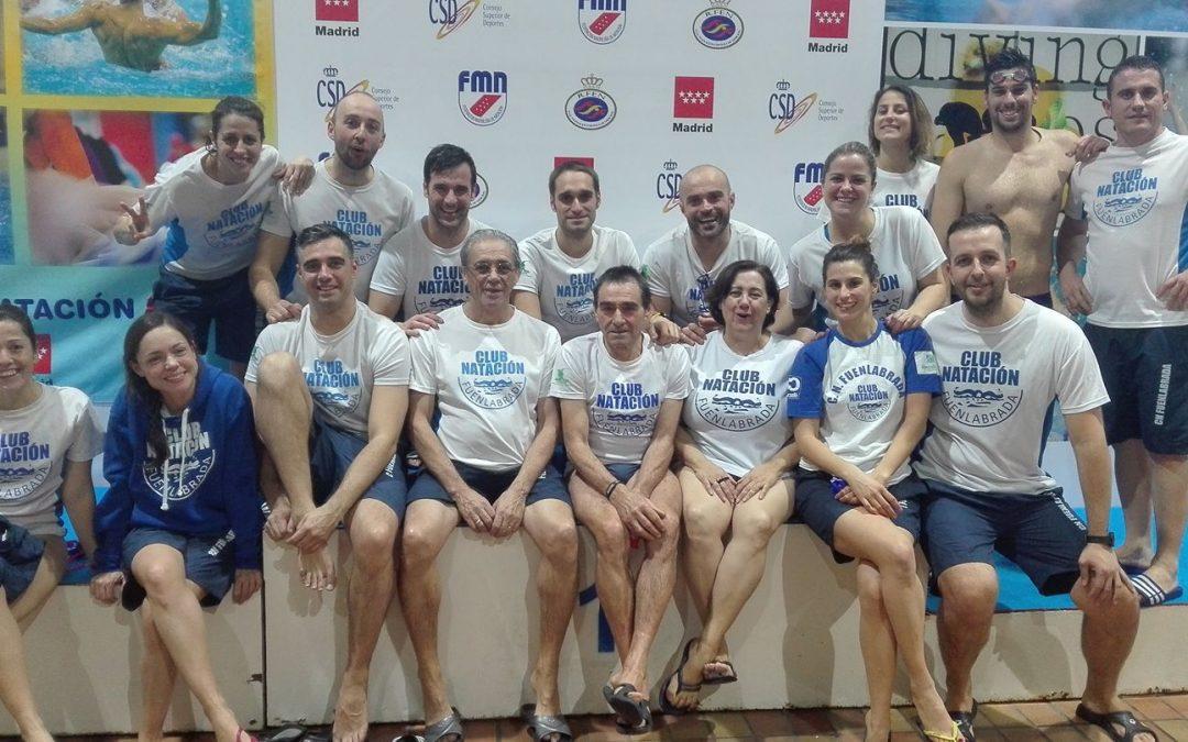 El Club Natación Fuenlabrada obtiene un total de 39 medallas en el II Campeonato de Madrid Máster de Invierno