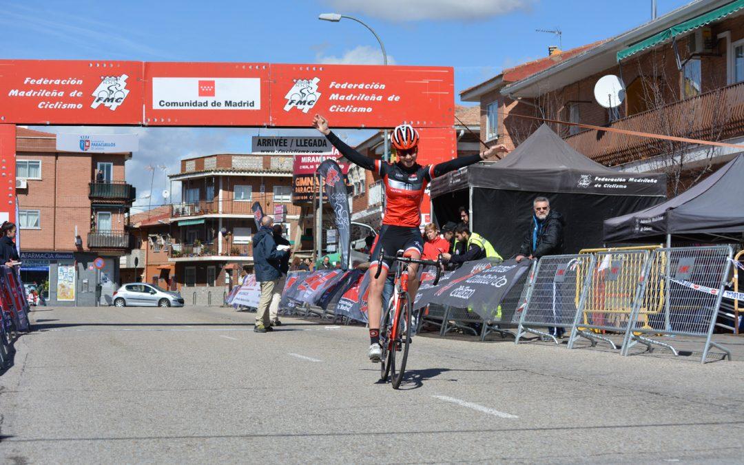 Carolina Estéban, vencedora en la categoría junior en la XXXIII Carrera Ciclista Paracuellos de Jarama y líder de la Copa de Madrid