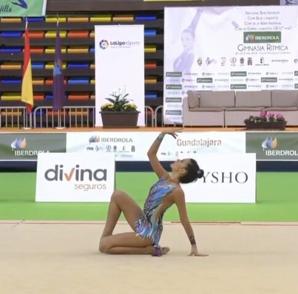 Klaudia Gut y María Tejada, del Club Gimnástico Fuenlabrada, participan en el Campeonato Nacional Base de Gimnasia Rítmica, celebrado en Guadalajara