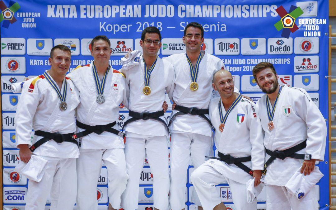 Juan Pedro Goicoechandía y Roberto Villar vuelven a ser subcampeones de Europa de judo