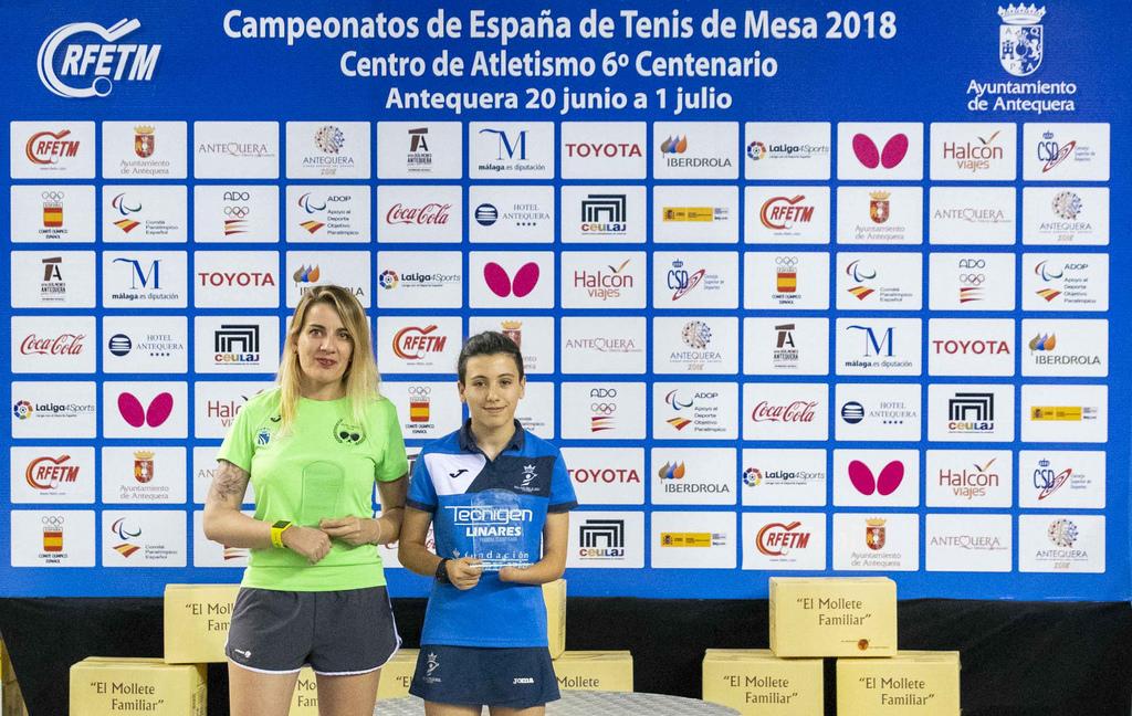 Raquel Sánchez Durán, del Club Tenis de Mesa Fuenlabrada Team, segunda en el Campeonato de España de Tenis de Mesa Adaptado en categoría Open Pie