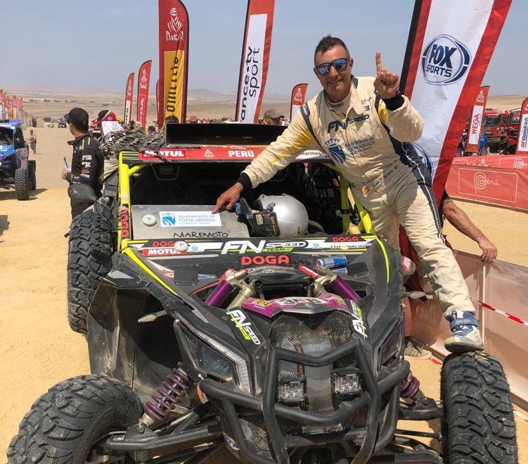 Juan Félix Bravo, feliz por conseguir su objetivo de finalizar el Dakar 2019